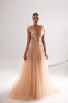 Sparkly romantic gown with long tulle skirt
