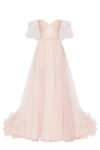 Delicate ball gown with sparkling long tulle-skirt