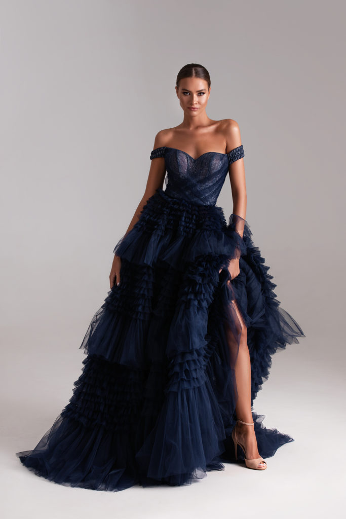 Gorgeous evening gown with Ruffles