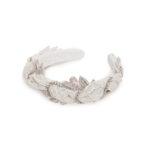 Glitter headband with floral-shaped crystals