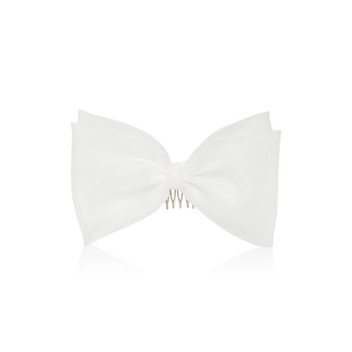 Elegant white bow for hair