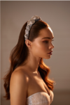 Exclusive bridal headpiece with crystals