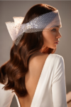Headpiece with sparkling sequins