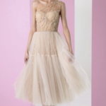 Combination dress with corset bustier