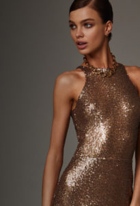 Metallic Golden Short Dress