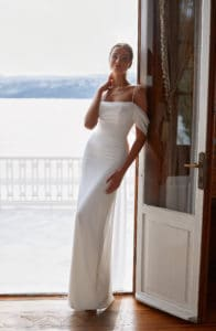 White Engagement White Gown