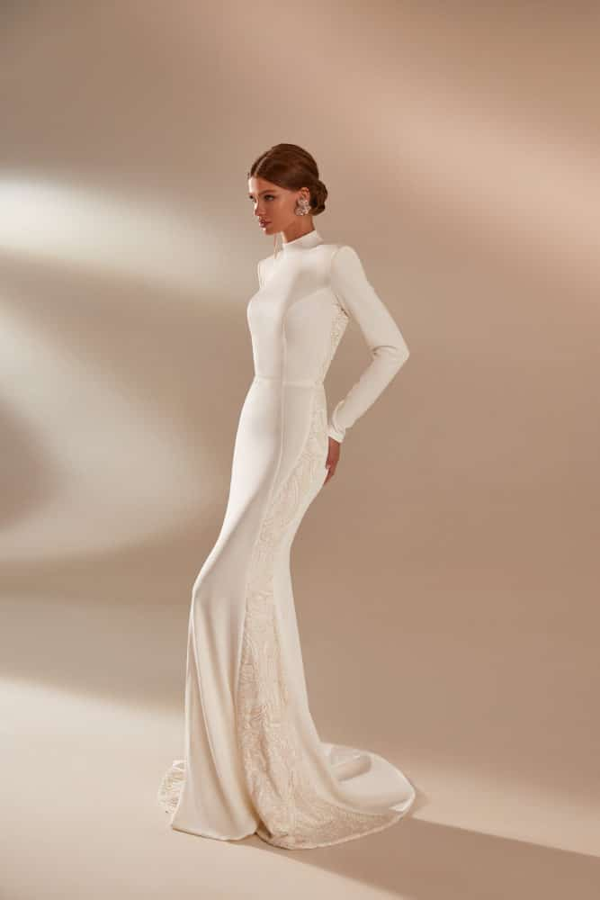 Elegant Long Sleeve Winter Wedding Dress
